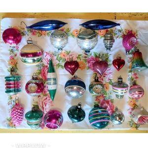 Huge Lot Vintage Christmas Ornaments MCM